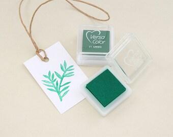 Ink Pad VersaColor Green No. 21   water-based  non-toxic   pigment ink  STUDIO KARAMELO