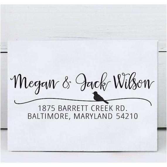 Custom Address Stamp Return Address Stamp Wedding Address