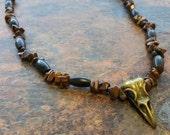 Bird Skull Aviary Totem - Bird Skull Pendant Necklace