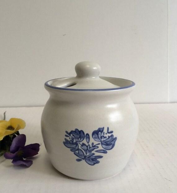 Pfaltzgraff Yorktowne Jelly/Jam Jar With Lid Honey Pot