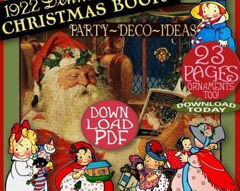 1920's Dennison CHRISTMAS Book Vintage Art Deco Xmas Holiday PARTY Decoration IDEAS Bogie Bk Pdf download