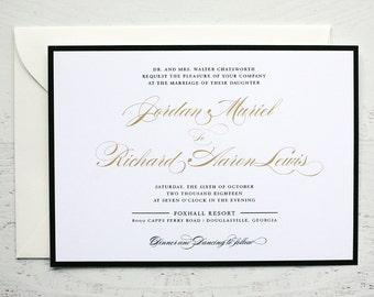 Jordan Custom Wedding Invitation