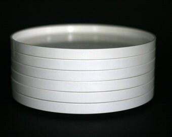 vintage heller dinner plates by massimo vignelli set of six