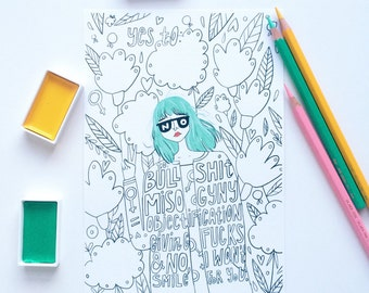 Colouring Prints for Adults A5 size Set of 4
