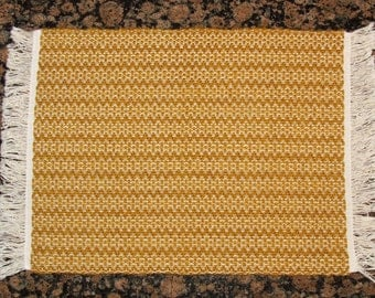 Handwoven Placemats - Gold