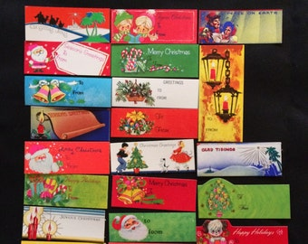 Lot of 70 Vintage Christmas Gift Tags