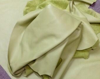 PREM244.  Chartreuse Leather Cowhide Partial