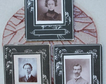 3 Matted Portraits - Lady, Gentleman & Boy