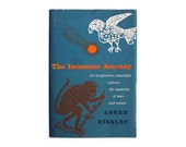 """SALE! Joseph Low book cover design, 1957. """"The Immense Journey"""" by Loren Eiseley"""
