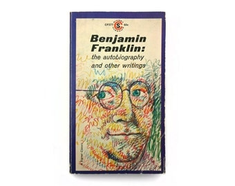 "Milton Glaser book cover design, 1961. ""Benjamin Franklin: The Autobiography and Other Writings"""