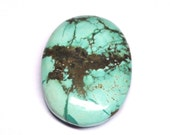 Reserved for Ann - Tibetan Turquoise, Natural Gemstone, Oval Cabochon, Untreated - 28.3 x 20.7 x 7.4 mm - 37.3 ct - 160331-01