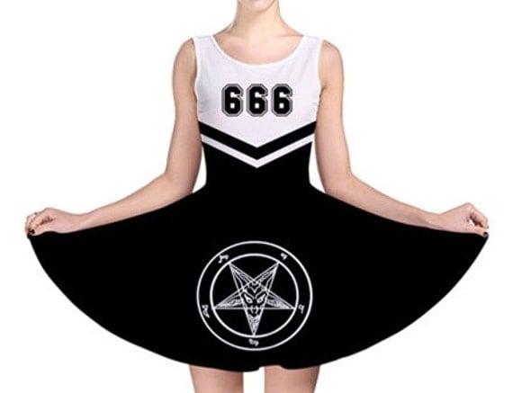 Evil Cheer Leader Dress Team Satan