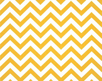 CLEARANCE SALE 1 yard Premier Prints corn yellow and white zigzag chevron home deco fabric