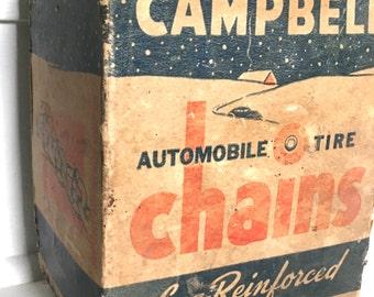 Vintage Campbell's Automotive Chains Box