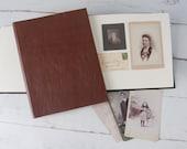 Classic Leather Photo Album, Custom Photo Book