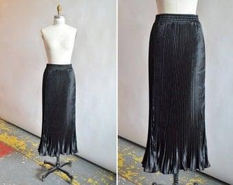 Vintage 1990s PLEATED maxi skirt