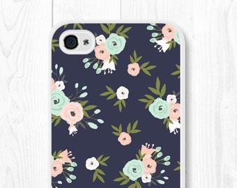 Floral iPhone 6 Case Samsung Galaxy S7 Case iPhone SE Case Floral Mint iPhone 5 Case Peach iPhone 6 Plus Case Samsung Galaxy S6 Case