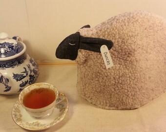 Sheep tea cozy, tea cosy: Duncan the sheep cozy