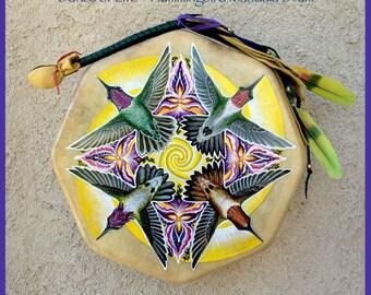 Hummingbird Mandala Drum
