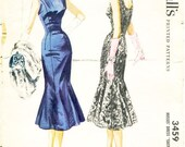 Vintage 1950s Dress Sewing Pattern - McCall's 3459 - Misses' Fitted Sheath Dress with Low Back and Trumpet Hemline - SZ 14/Bust 32
