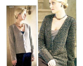 ON SALE Loes Hinse Design Pattern 5111 - GARBO Jacket - Misses' Button Front Cardigan Jacket - Multisize Pattern with Petite thru Plus