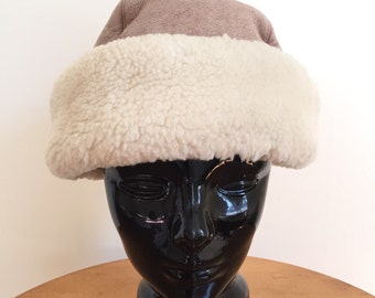 Real Sheepskin Hat - Winter Hat - Fur Hat - Trapper Hat - Bomber Hat - Russian Hat