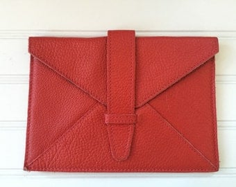 Roots Leather Kobo Case - Kobo Cover - Roots Bag - Red Leather Case Kobo Tablet