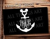 Anchor Monogram Vinyl Decal