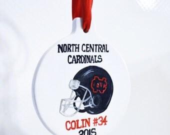 School Logo, Mascot Personalized School Ornaments, Sports Team