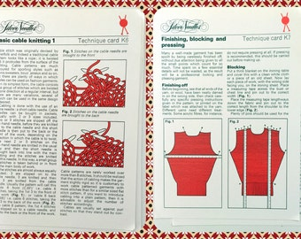 Vintage Silver Needles Knitting Technique K6 K7 Tutorials 70s How To Guides