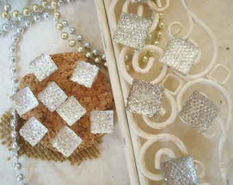 Crushed Diamond Magnets and Tacks Set. Magnetize and Display with Sparkle and Shine.