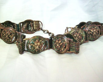 vintage metal Lion head belt-Sale