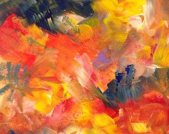 Burst of Life Abstract Art Print
