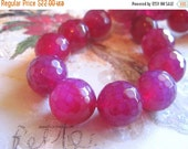 """30% OFF SALE 16"""" long (20pcs) Pink Agate Faceted Round 20mm Beads, Gemstone Beads"""