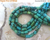 "20% OFF ON SALE 16"" long Green Turquoise Tube 13mmx7mm Beads,  Gemstone Beads"