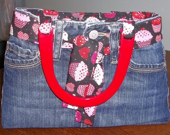 Blue Jean Purse/Handbag