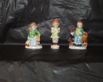 LOT Vintage Occupied Japan Hand Painted Ceramic People Figurines NICE