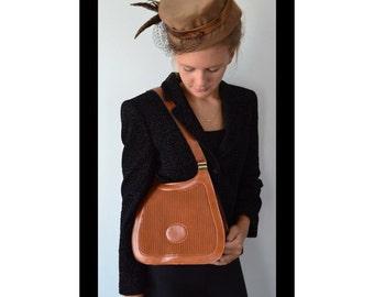 Vintage Handbag, 1970s Handbag, Tan Leather Handbag, Vintage Leather Handbag