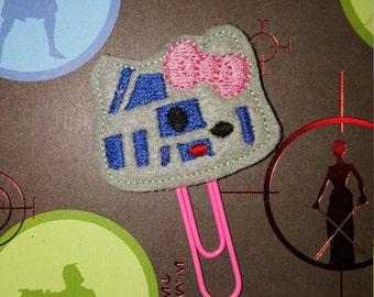 Star Wars Hello Kitty R2-D2 theme planner paper clip