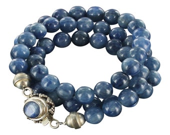 Kyanite Round Beads Necklace 8mm