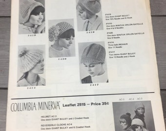Vintage Paper Knitting Crocheting Pattern Catalog 1970s Mod Clothing Black And White Photos