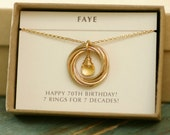 70th birthday gift for mom necklace for her, citrine necklace gold jewellery for women, November birthstone necklace - Lilia