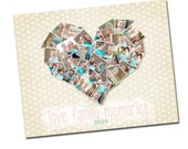 INSTANT DOWNLOAD - Photography 16x20 Storyboard Collage Board Template Collection, Valentines - E1002