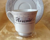 Arsenic Tea Cup Coffee Mug Altered Steampunk Set