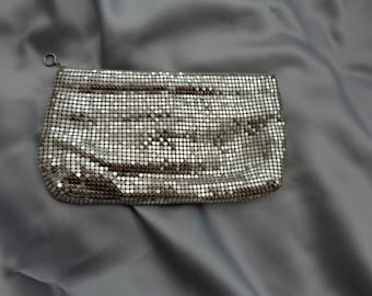 Vintage metallic clutch purse