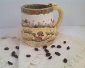Mug/stoneware mug/dog art/dogs/pup cup/pottery mug/whimsical pottery/coffee mug/handmade mug/ceramic mug/ready to ship/dog lovers gifts