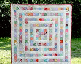 Patchwork Quilt Baby, Toddler, Lap - Growing Squares