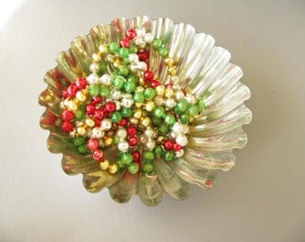 Vintage Mercury Glass Beads, Mercury Glass bead garland, mixed