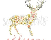 NEW Watercolor Deer Design