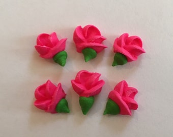 LOT of 100 Royal Icing mini flowers for cookie  Decorating